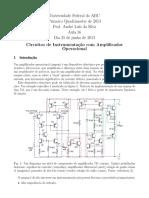Aula 14 Circuitos de Instrumentação Com Amplificador Operacional