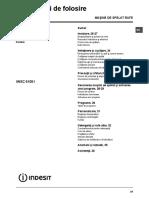 Manual Indesit