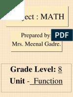 Function in Algebra-PPT