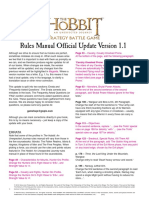 The Hobbit - Rules Manual Official Update Version 1.1