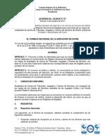 Acuerdo Csjsua17-244 Del 6 de Octubre de 2017
