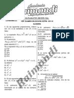1er Examen Cepru - 2011 - II Algebra