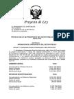 Proyecto de Ley Presupuesto 2018