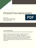 Pengertian Manajemen ppt