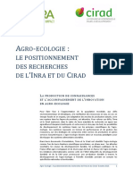 Agro Ecologie INRA CIRAD Note Longue