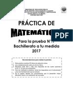 Practica Matematicas Bachillerato a Tu Medida 01 2017 Ce