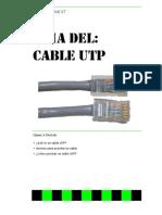 Como ponchar un cable UTP.