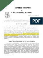20. Roussell, Gueydan de - Sentido Humano y Cristiano Del Campo