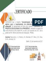 Modelo de Certificado - Apresentador de Trabalho