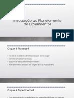 Planejamento de Experimentos e Otimização de Processos