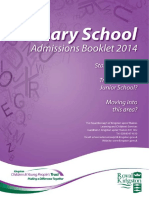 Primary School Admissions Booklet 2014 15