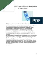 Medicamentos Mas Utilizados Em Urgência e Emergência