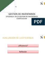 Gestion de Inventarios-eficiencia y Codificacion