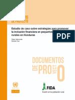 17 CEPAL S1700011_es Estudio de Caso Sobre Estrategias Para Promover La Inclusión Financiera en Pequeños Productores en Honduras
