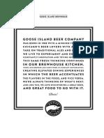 Goose Island food