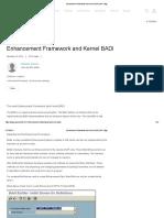 Enhancement Framework and Kernel BADI
