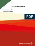 Onderwijs- En Examenregeling 2017-2018 Master Biology