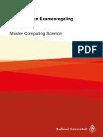 Onderwijs- En Examenregeling 2017-2018 Master Computing Science
