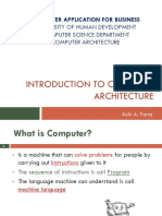 Introduction to computer architecture