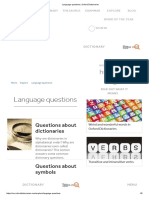 Language Questions _ Oxford Dictionaries