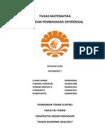 Tugas Matematika (Diferensial) Kelompok 7