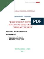 Minado Camaras y Pilares