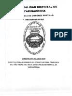 Yaniracocha Directiva 001 2015