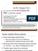 Comments on Dr. Jianguo Xu's presentation on developing the PRC's Service Sector09-Comments Donghyun Park
