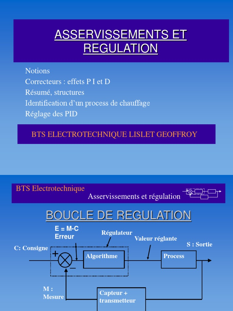 Asservissements Control Engineering Electrical Engineering