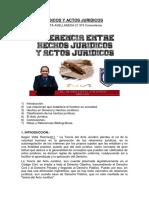 Hechos Juridicos y Actos Juridicos