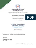 U2A1 - Resumen de Ramas de La Ética - Dalila Viramontes Durán