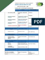 Cronograma Escolar 2017-2018 a Distancia