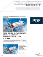 Tarif Congo Air Ways