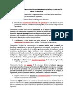 Argumentación y de La Planificación y Evaluación de La Evidencia