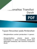 Rasionalitas Transfusi Darah pada icu