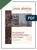 Cursos Abiertos Area de Derecho 2016 2017