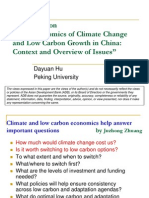 "Comments on ""The Economics of Climate Change and Low Carbon Growth in China"