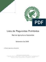 10. RAS Lista de Plaguicidas Prohibidos Septiembre 2009