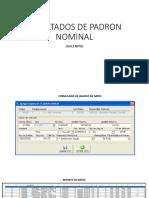 Resultados de Padron Nominal