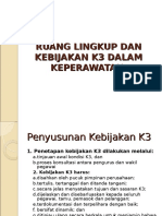 3. Ruang Lingkup Dan Kebijakan k3 Dalam Keperawatan