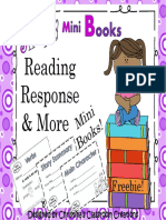 Reading Response to Literature Mini Books Freebie