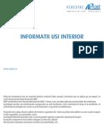 Tehnic Usi Interior