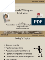 Scholarly Writing and Publication