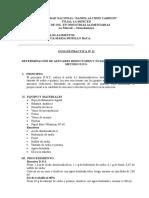 Practica de Analisis, 14 Azucares
