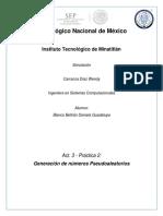 Programa de Algoritmo congruencial multiplicativo