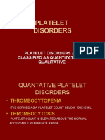 Platelet Disorders Itp