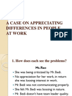 A Case on Appreciating Differences in People
