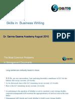 Communication Written Skills Aug 13 2010
