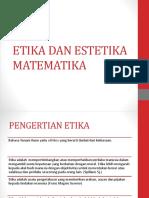 Etika Dan Estetika Matematika