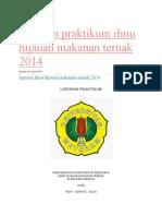 Laporan Praktikum Ilmu Hijauan Makanan Ternak 2014